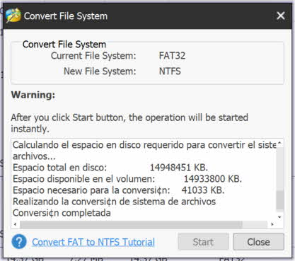 Minitool Partition Wizard - Convertir partición FAT a NTFS 2