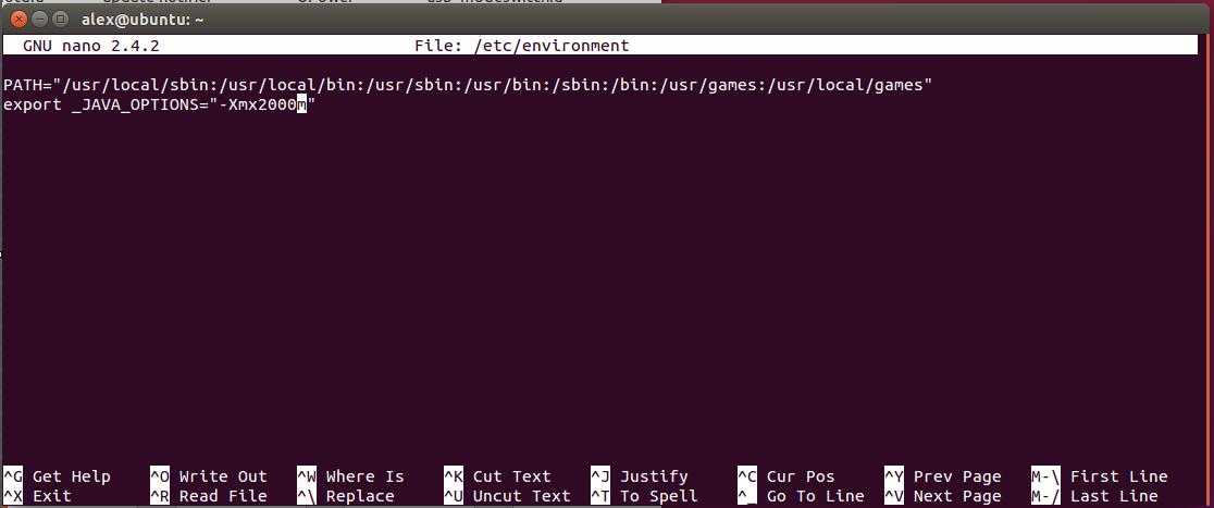 Modificar la cantidad de memoria que las aplicaciones Java tienen disponible en Ubuntu 2