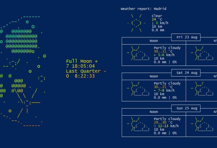 Obtener la previsión del tiempo usando Powershell