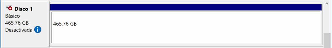 Poner disco offline en administrador de discos Windows