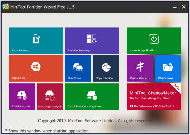 Review de Minitool Partition Wizard Free 11 -2