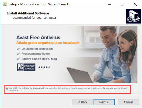 Review de Minitool Partition Wizard Free 11