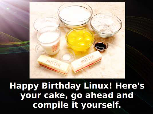 LOLZ Linux birthday