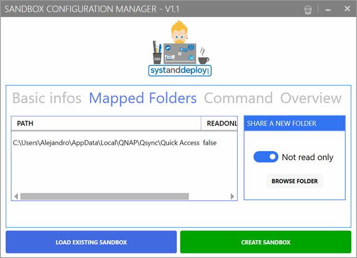 Windows Sandbox Configuration Manager