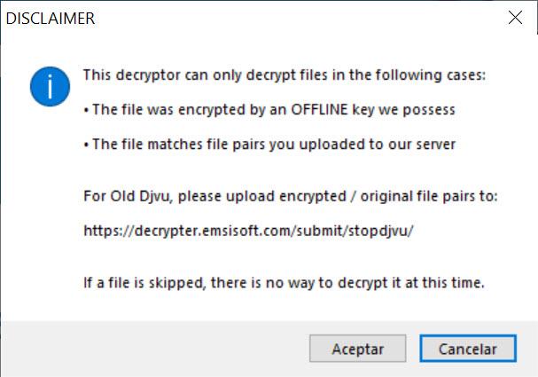 Emsisoft decryptor 2