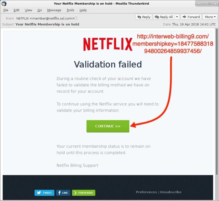 Pruebas de Phishing Netflix