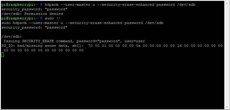 Borrar unidades en Linux de forma segura con hdparm