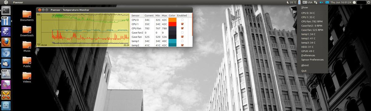 Comprobar la temperatura de CPU en Ubuntu Linux