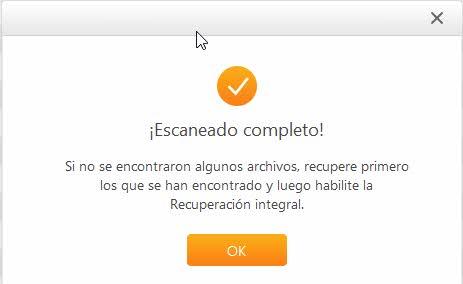 AnyRecover - Recuperar archivos Windows - finalizado