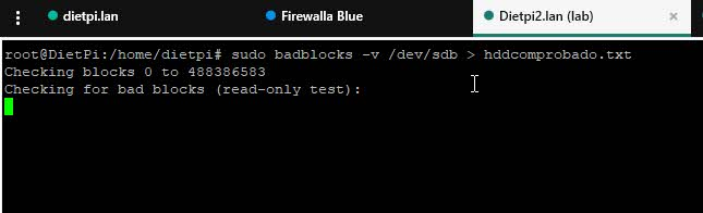 Verificar sectores defectuosos de disco en Linux